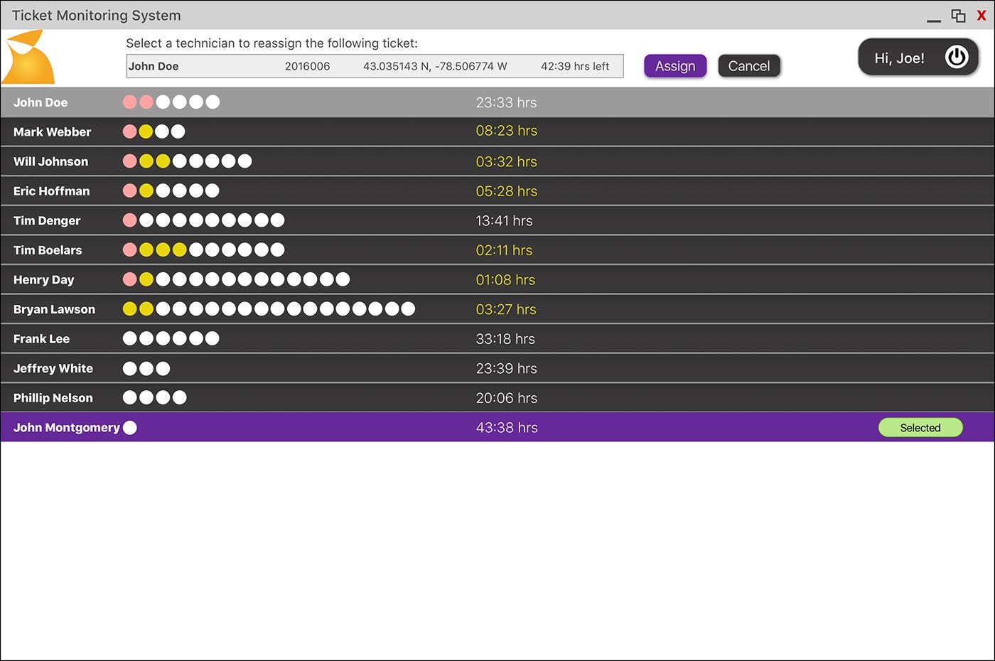 design UI sketch 3.0 monitoring system