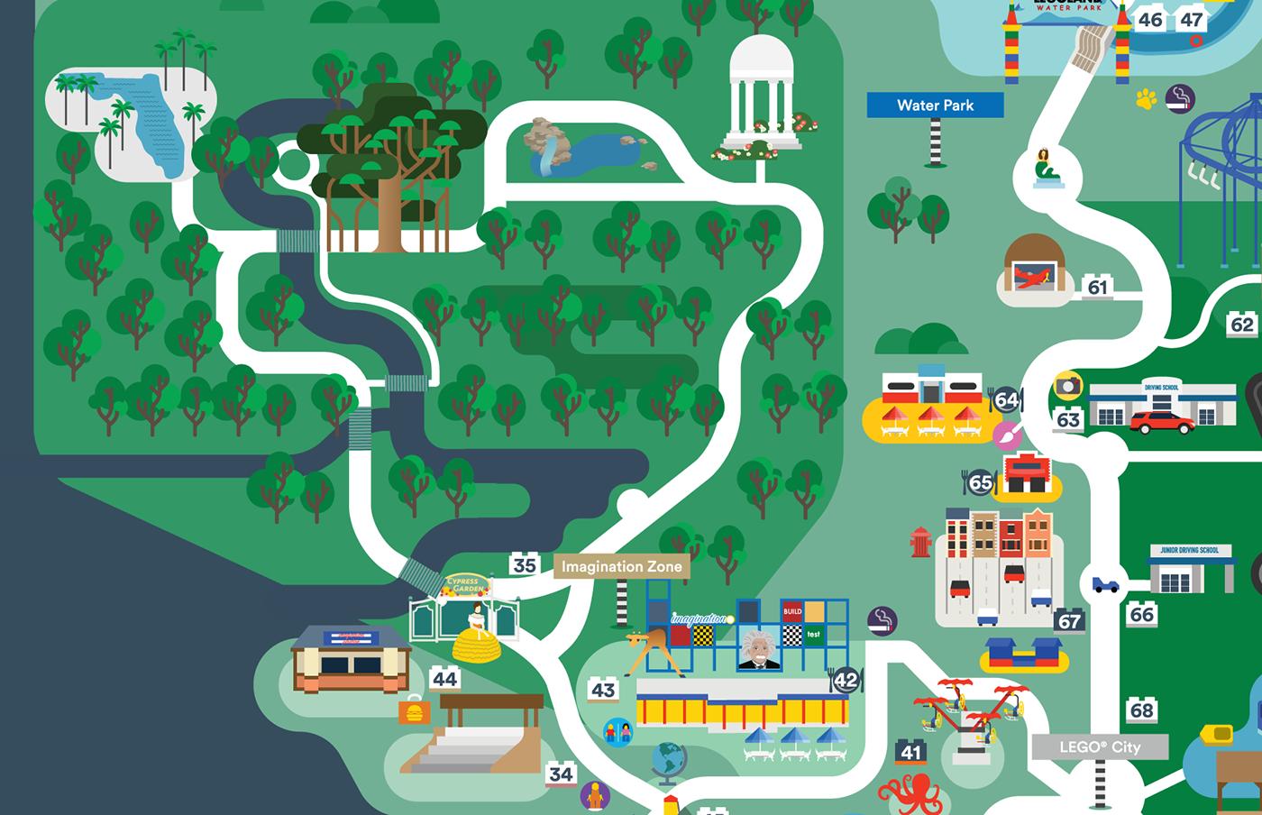 Legoland Florida map 2016 on Behance