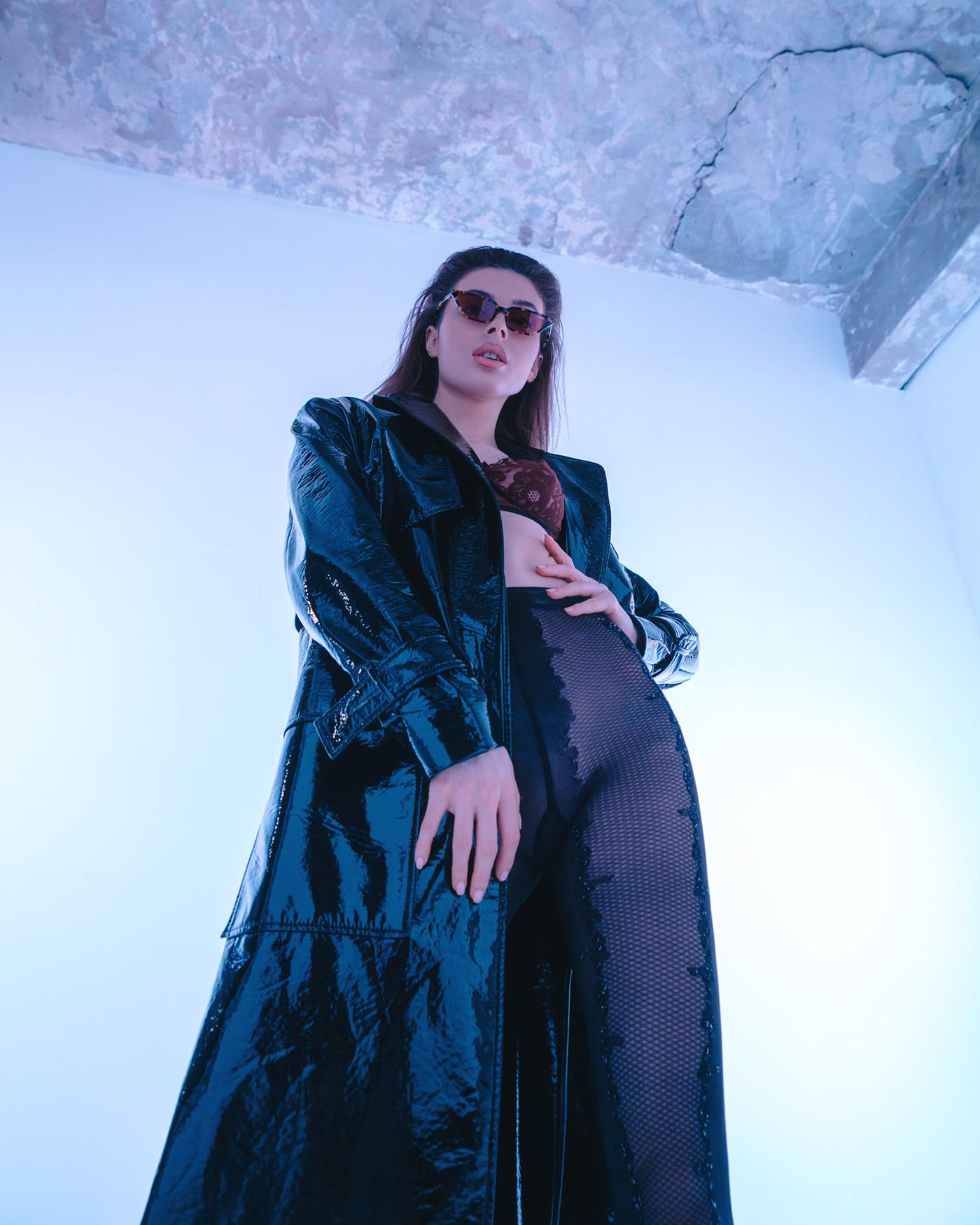 color color light editorial Fashion  fashion editorial matrix model neon