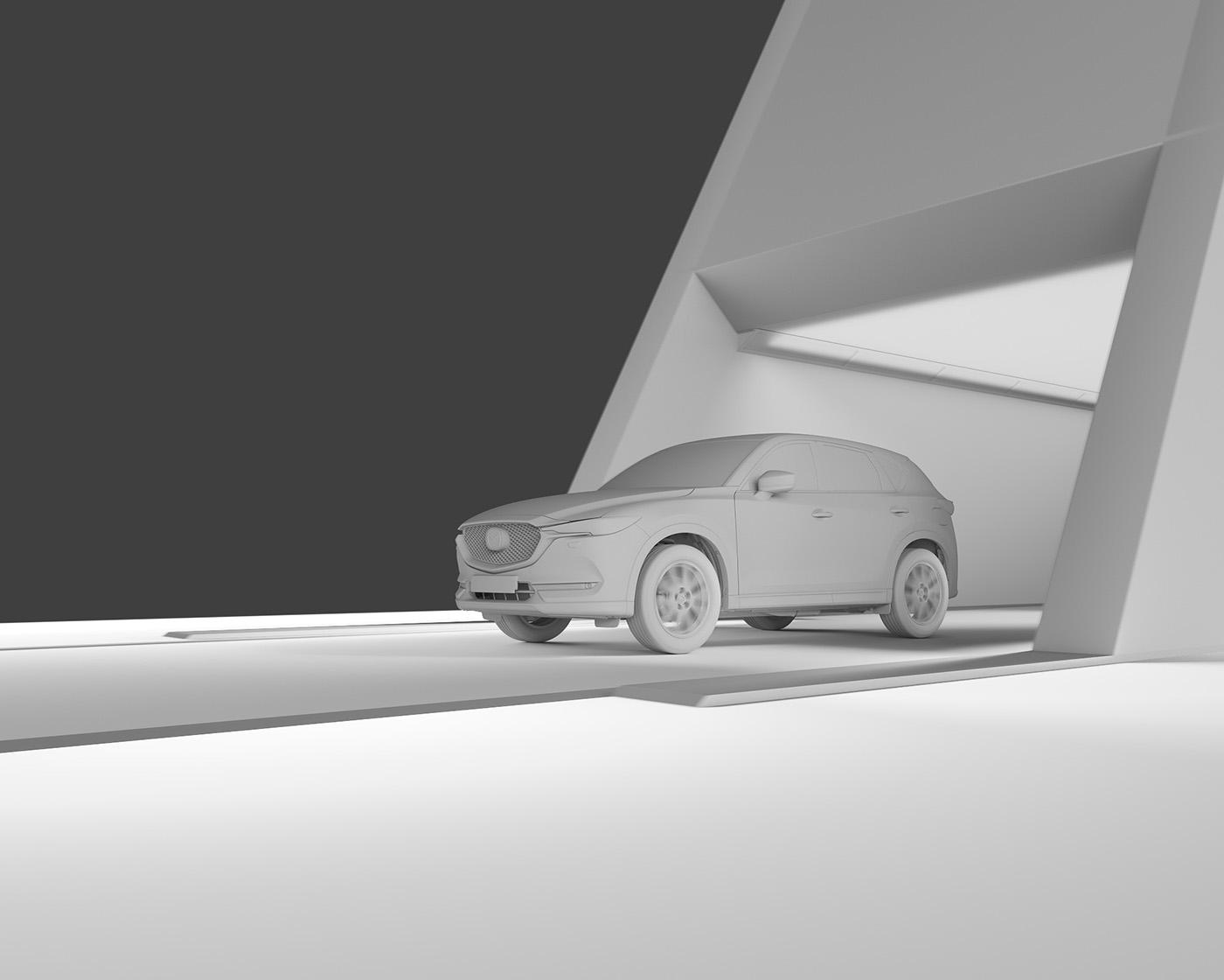 car mazda cx-5 3D postproduction CGI Render