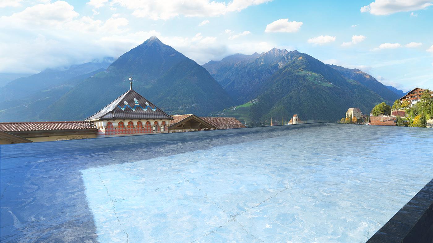 architectural archviz Arnold Renderer CGI cinema 4d rendering rooftop swimming pool visualization