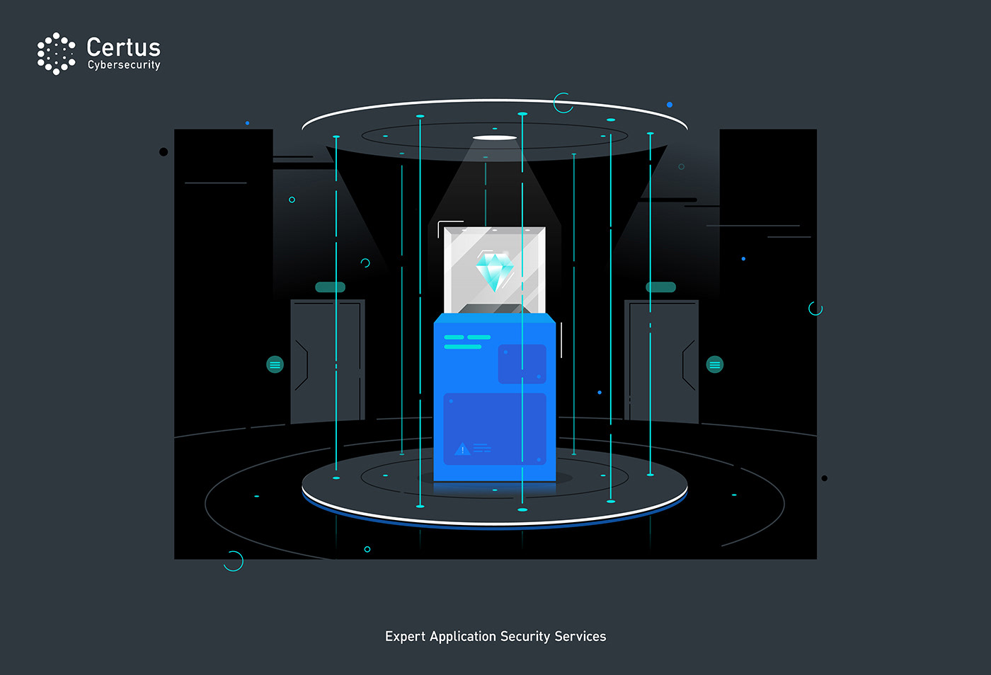 cybersecurity ILLUSTRATION  vector Webdesign security