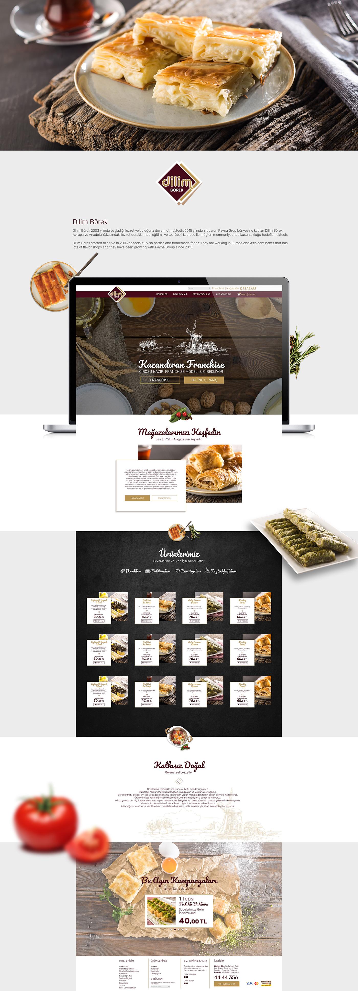 bakery,Web,Web Design ,ui design,bootstrap,Food web,Online shop,Patties,patty,dilim börek