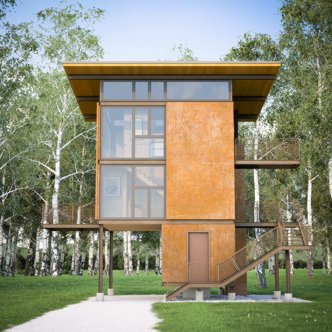The 200 Square Foot Footprint Of The House Rises Above A 40 Acre, 100 Year  Flood Plain Adjacent To The Methow River.