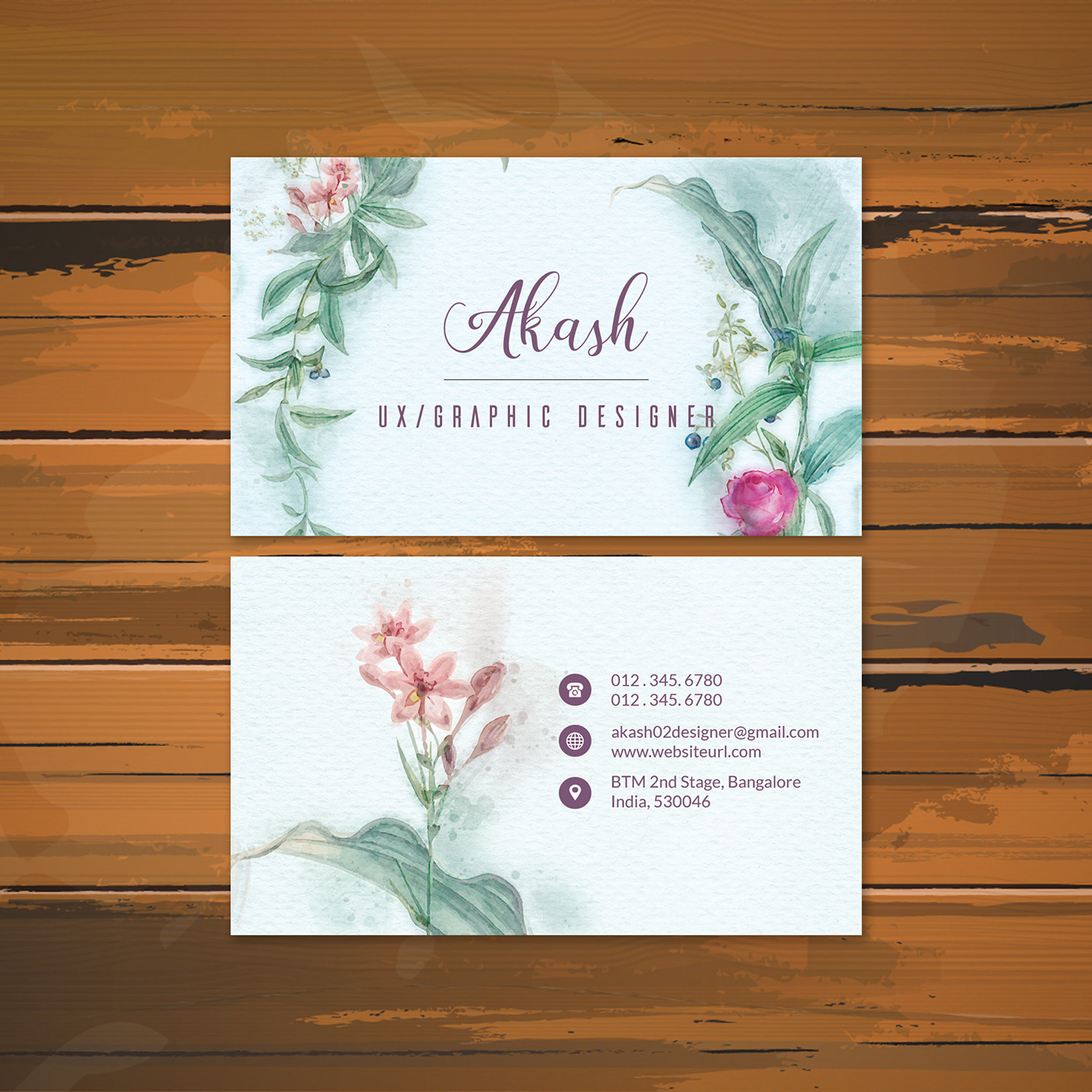 business card detail photoshop psd ultra watercolor