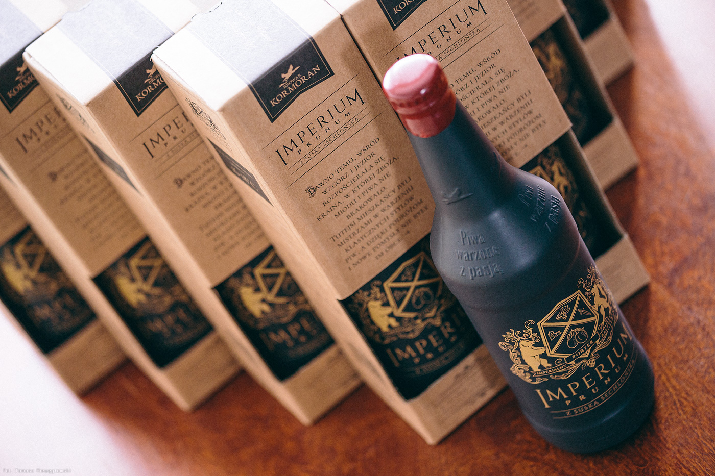 beer Bier brewery brand craft package bottle design Browar Kormoran fogravis