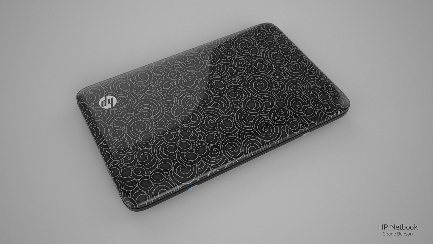 c4d cinema 4d 3D netbook hp notebook Laptop