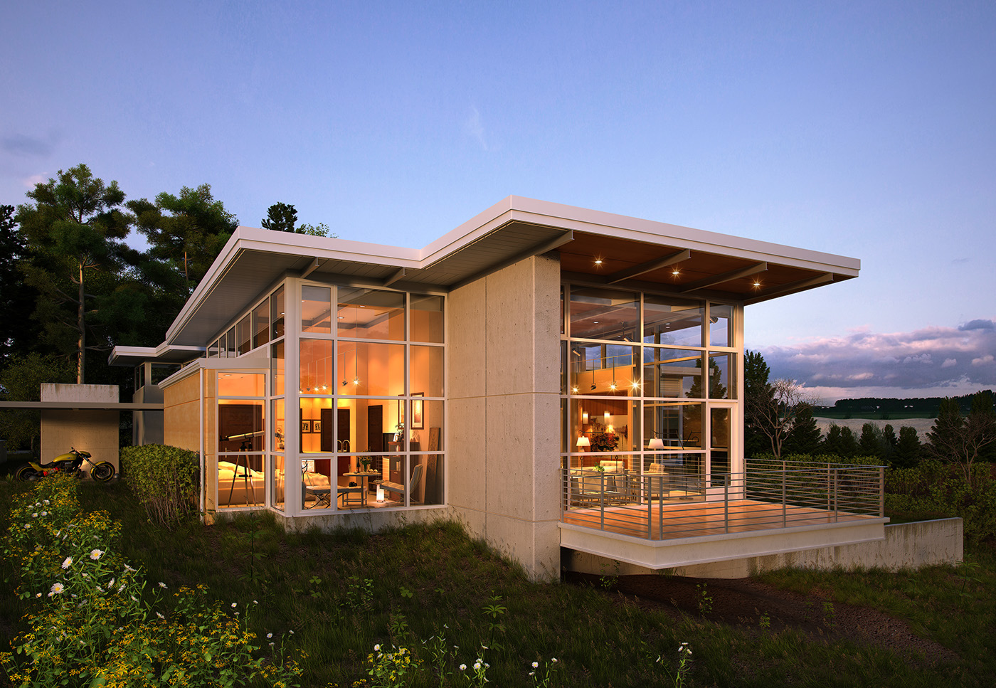 The walnut house exterior on behance for Model home exterior photos