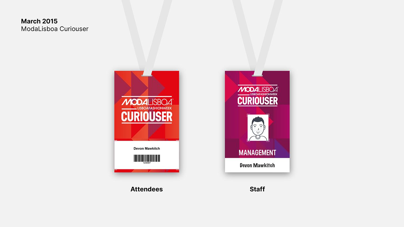 Badges graphic design  fashion week Lisbon