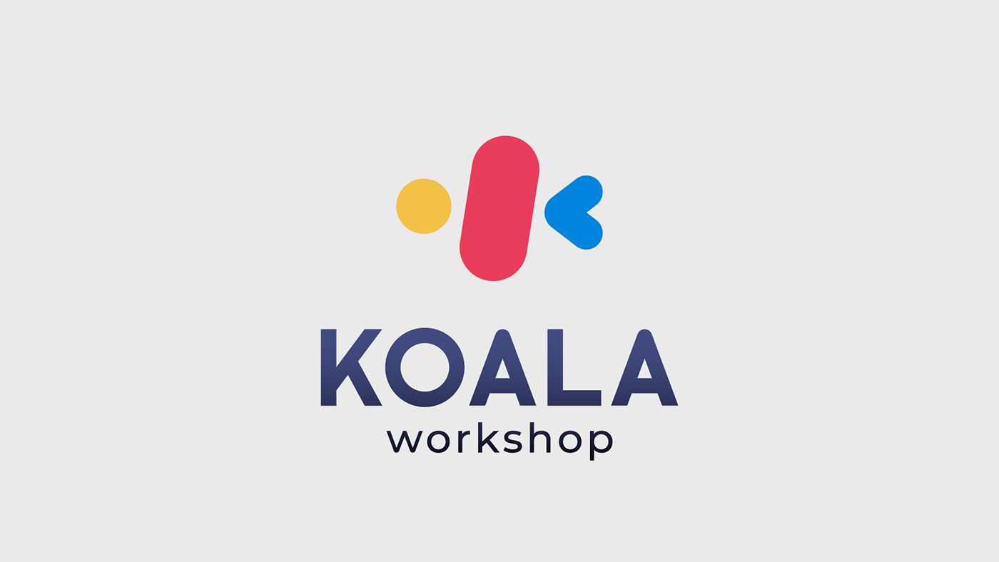 Brand Image branding  colorful graphic design  koala koala workshop Logotype stationary UI ux