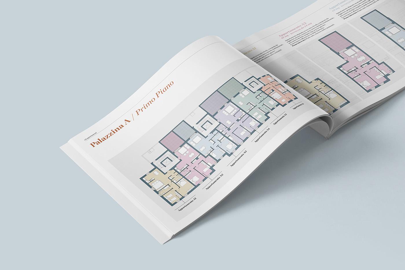 brochure marchio folder Layout building