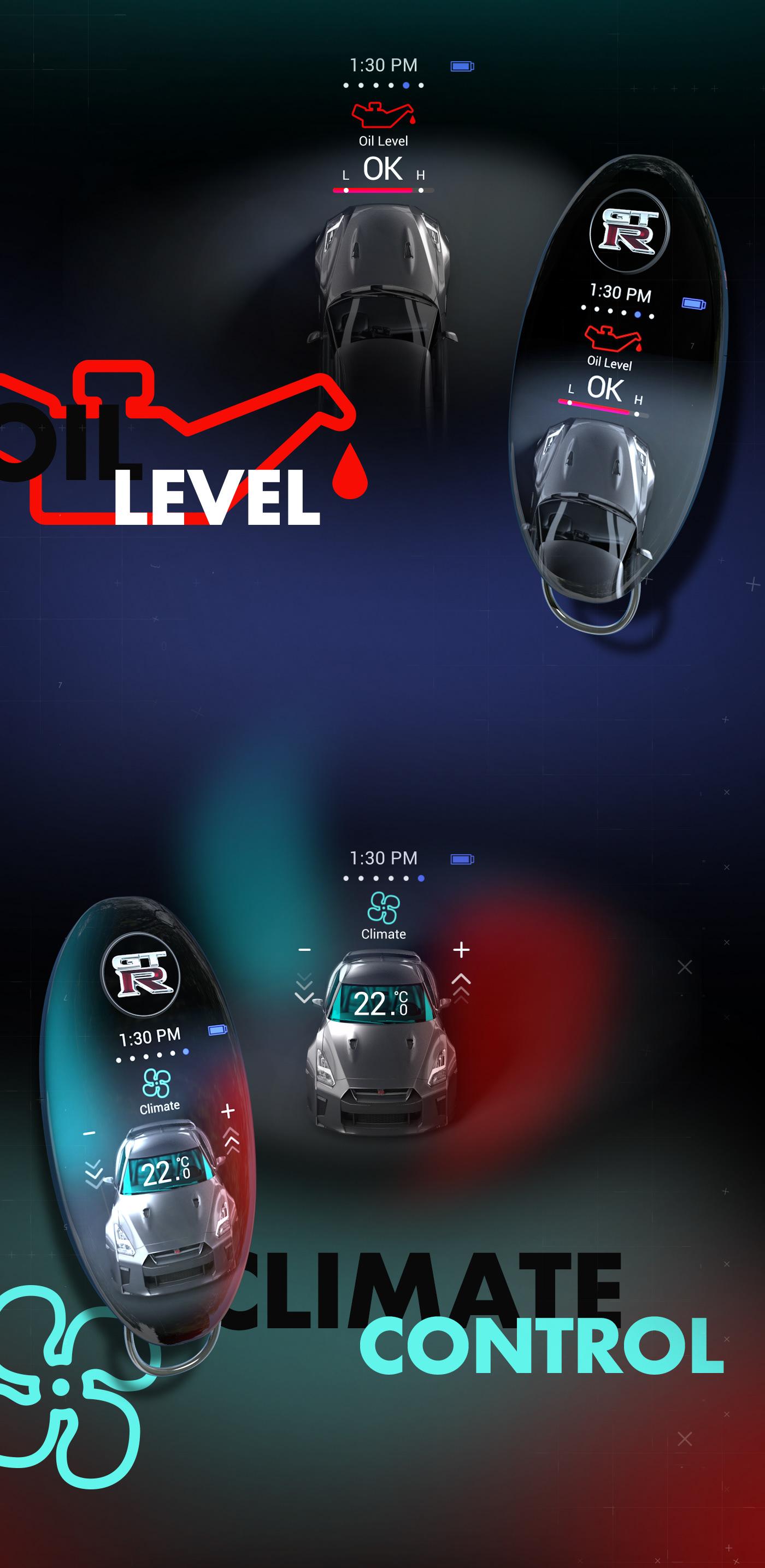 ux UI Interaction design  motion smart key user interface Wearable wireless key fob car