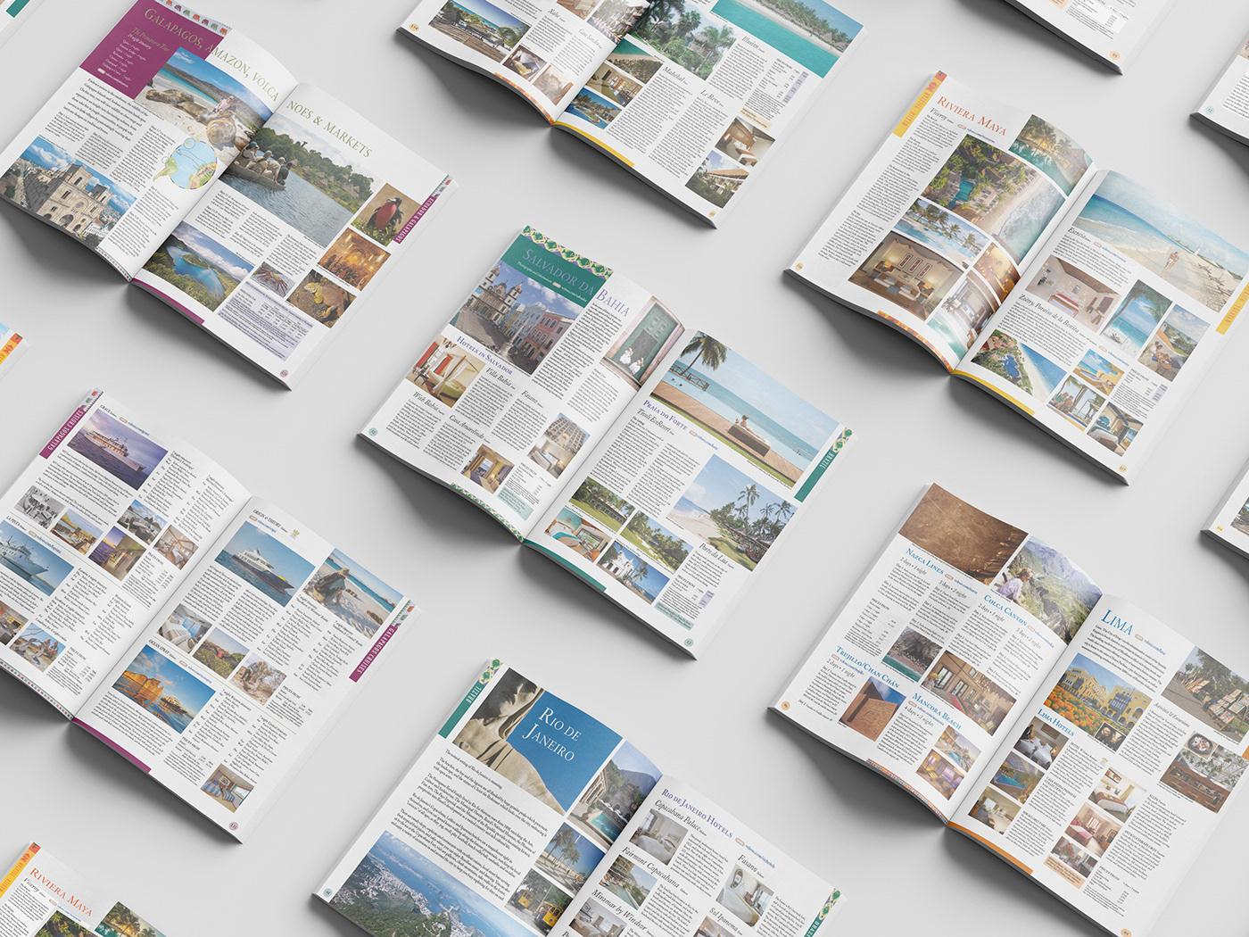 brochure magazine print tours travel agency