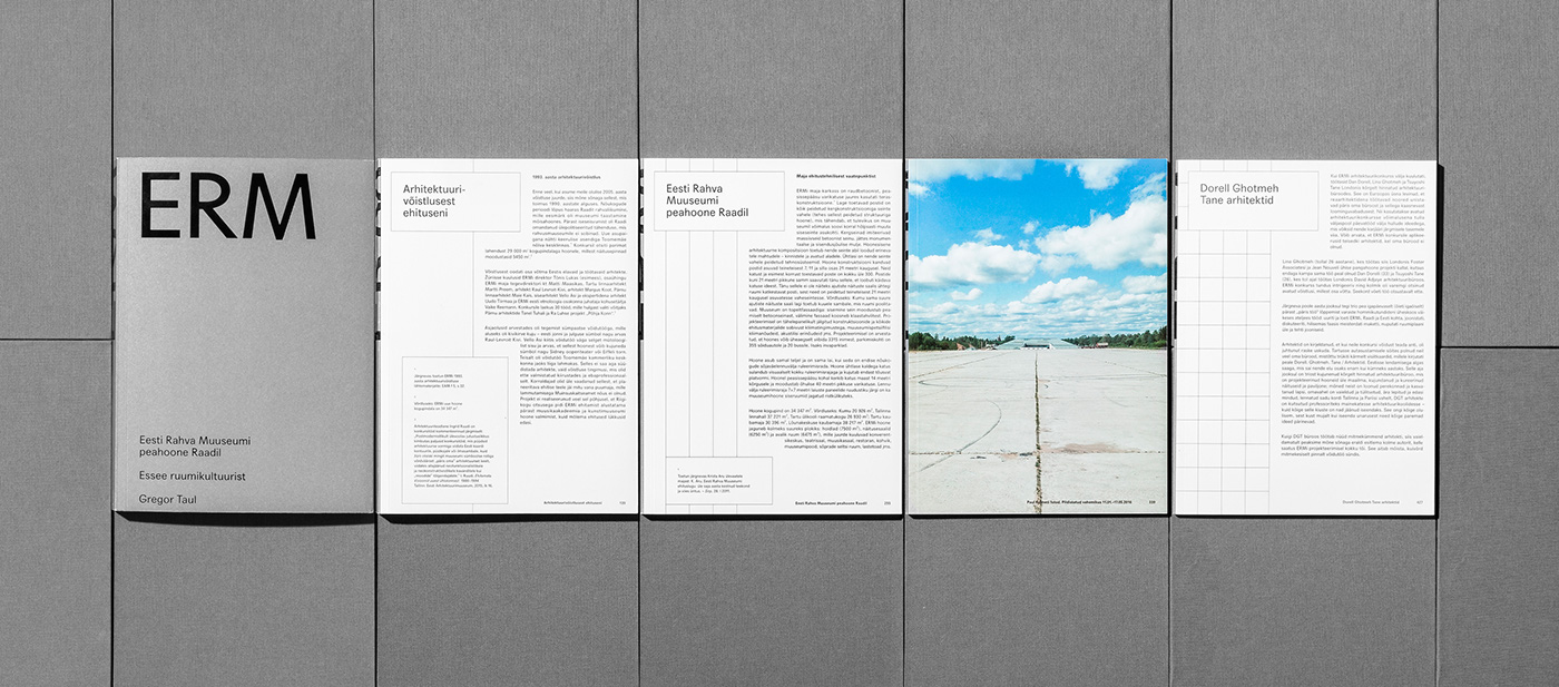 architecture national museum book Layout grid 3d printing Estonia eRM