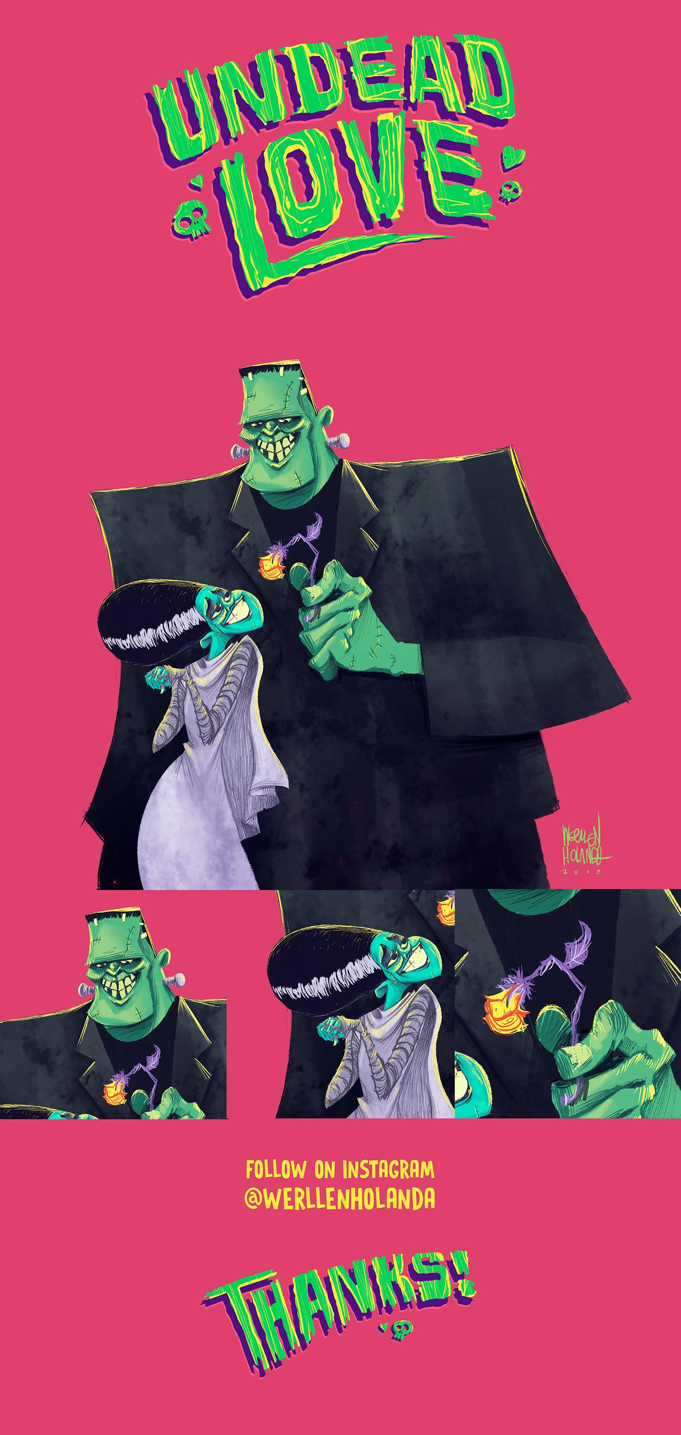 frankstein monster universal Character design