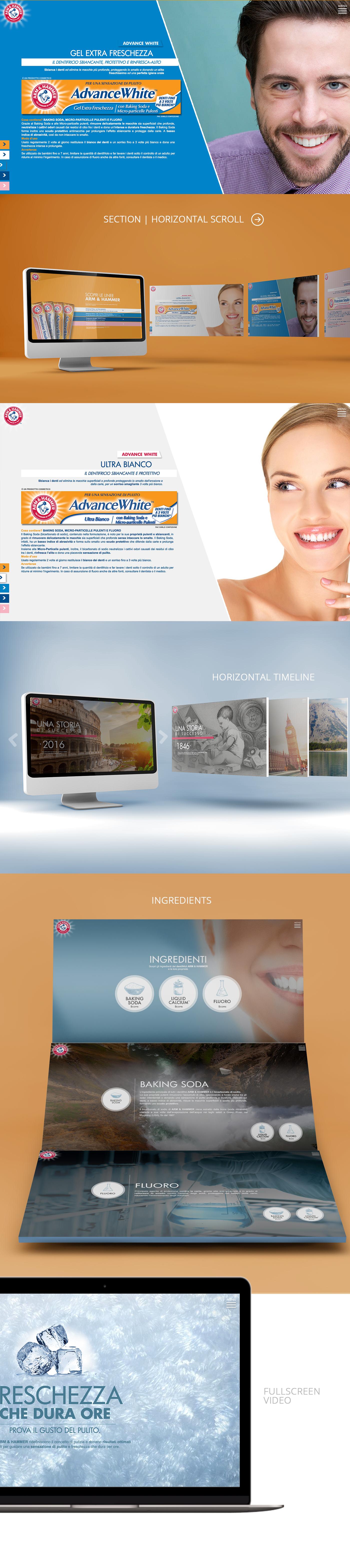 Website Webdesign art direction  design Responsive fresh clean modern branding  rwd ArtDirection brand toothpaste