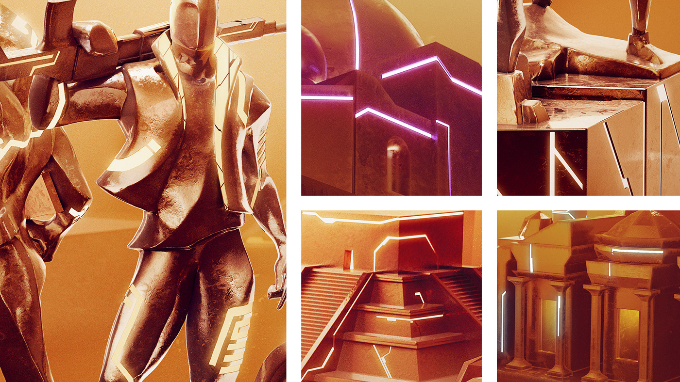 3D colors Event FREEFIRE FUTURISM Gaming grid Keyvisual Render visual identity