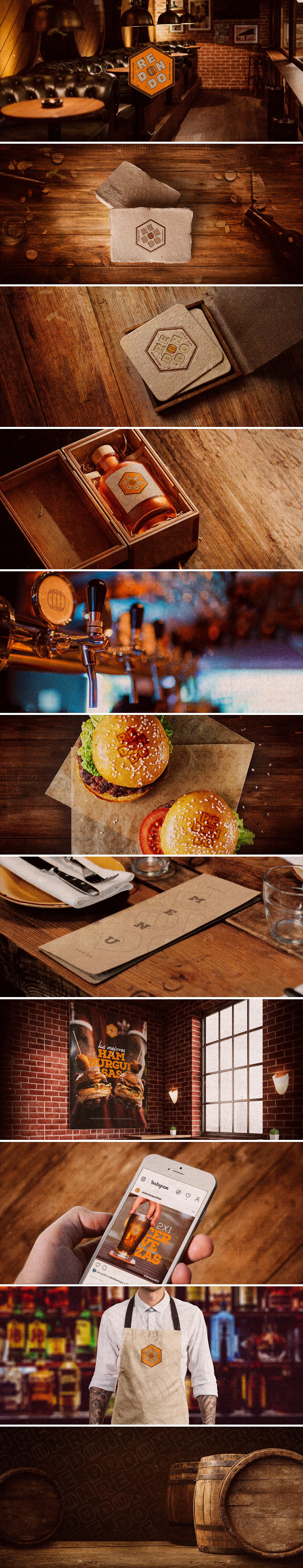 bar sport design beer burger creative