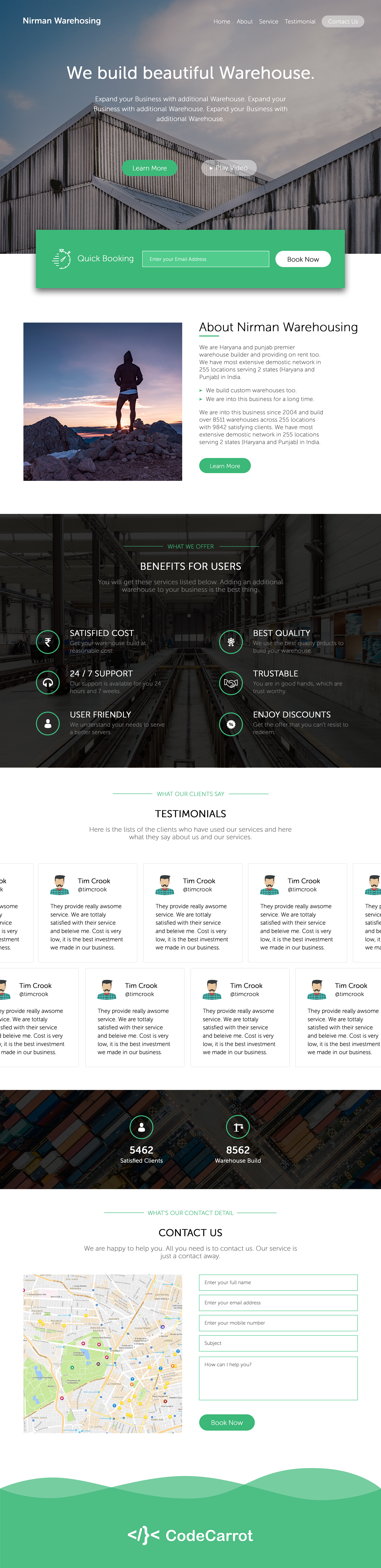 web designing warehouse Desiging mockups