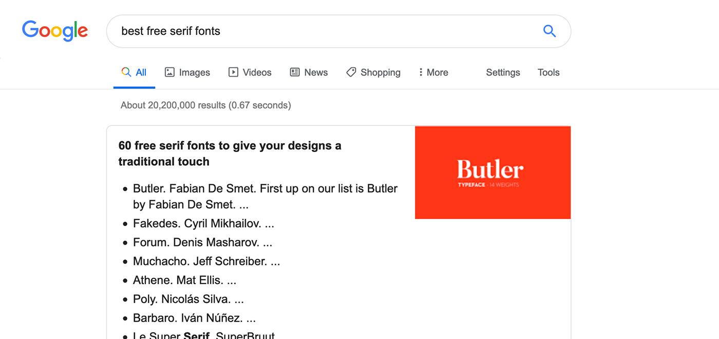 free font serif butler stencil type fancy