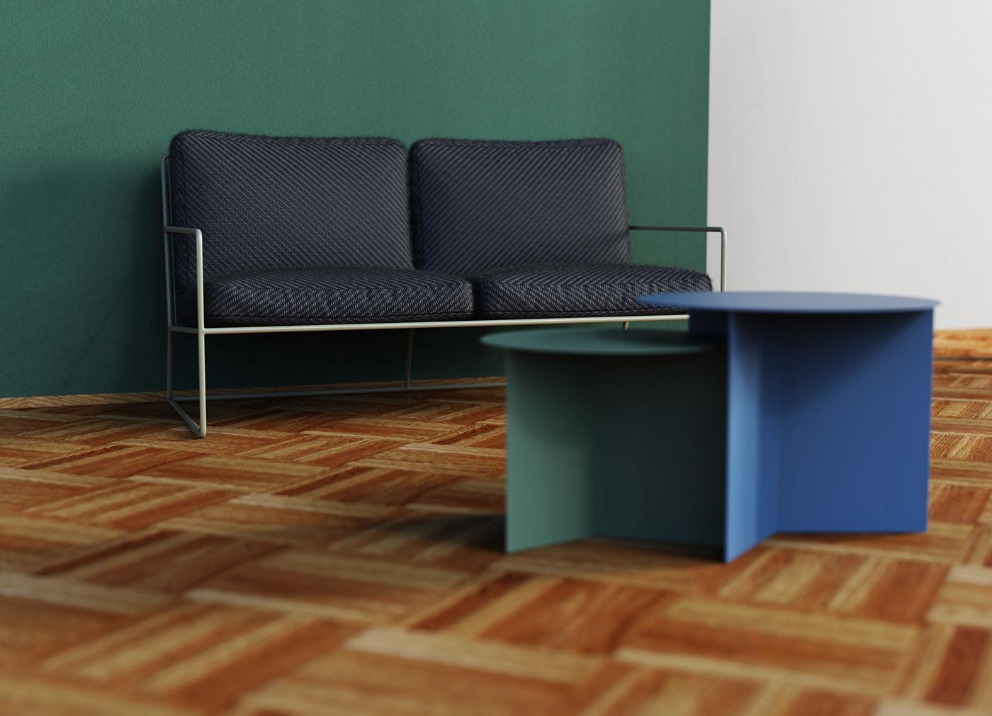 design furniture Interior interior design  keyshot Renderings Renders sofa visualisation