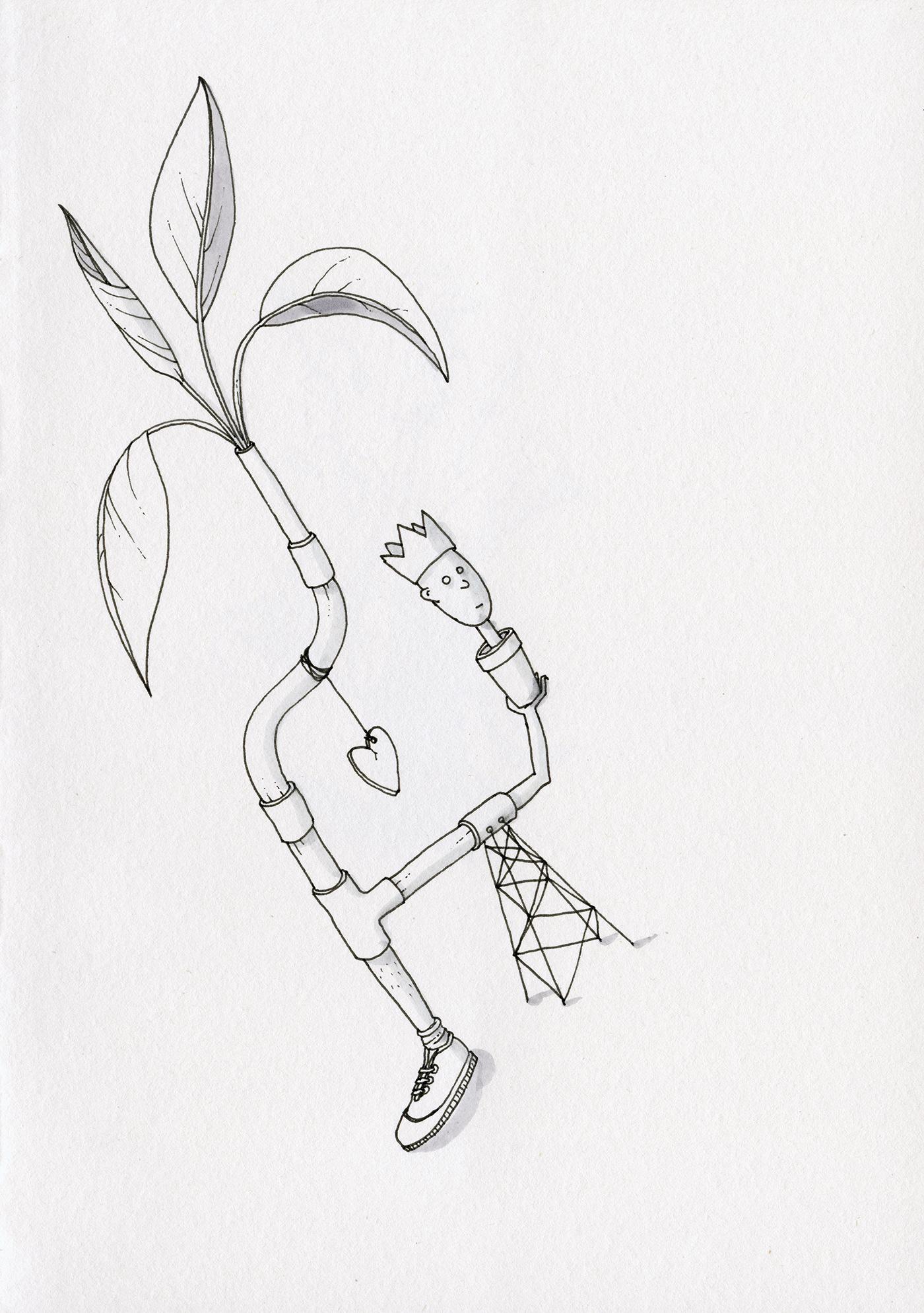 analog,Drawing ,fineliner,ILLUSTRATION ,ink,paper,surreal