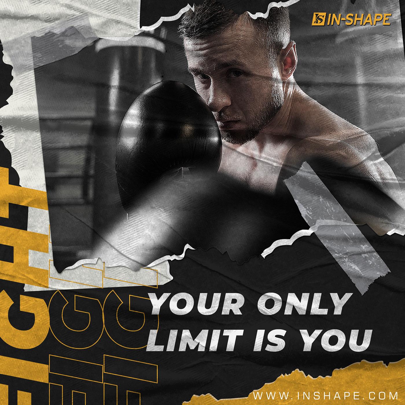 gym banner Gym Posters gym social media designs Social Media Designs