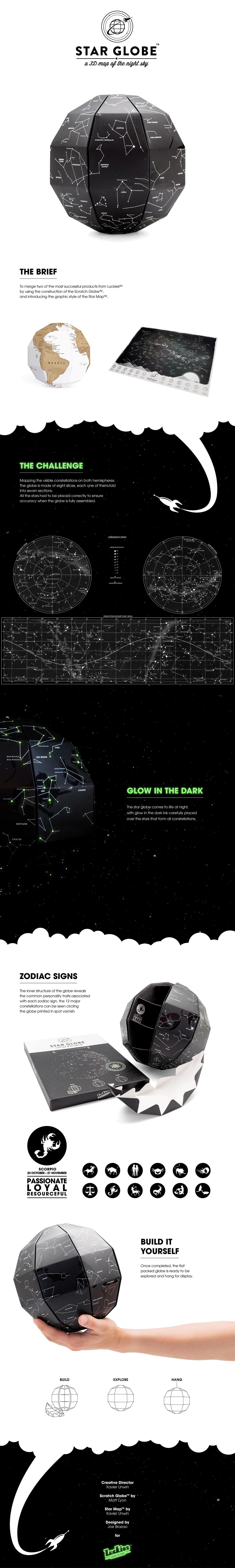 star globe glow in dark Constellations zodiac map Star Map