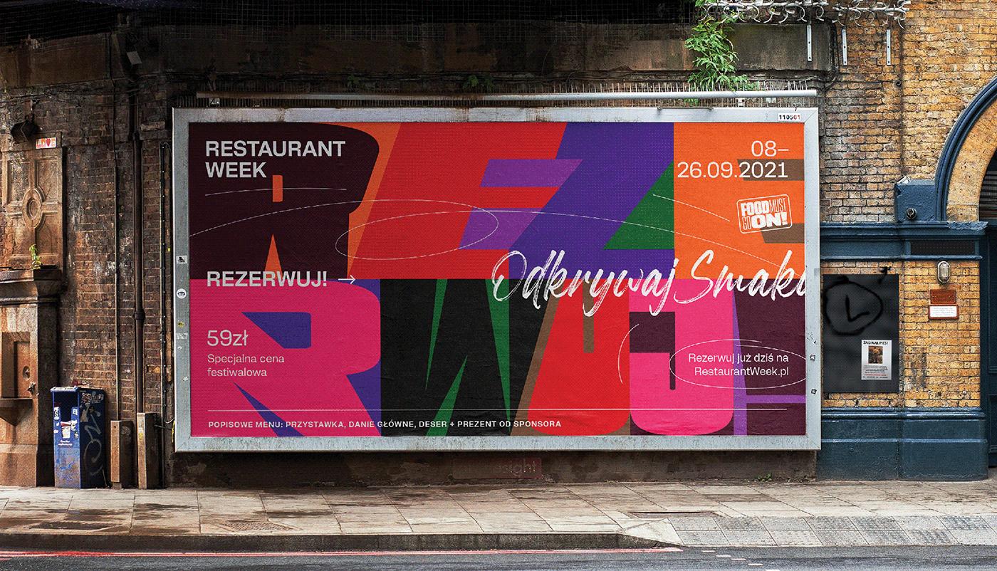banner colorful festival food festival kinetic typography MACHALSKI Mateusz Machalski  poster food RESTAURANT FESTIVAL restaurant week