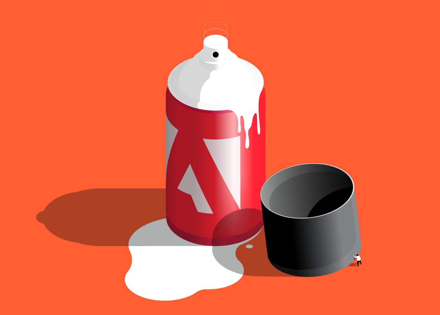 Creative Spray Paint isometric vector illustration