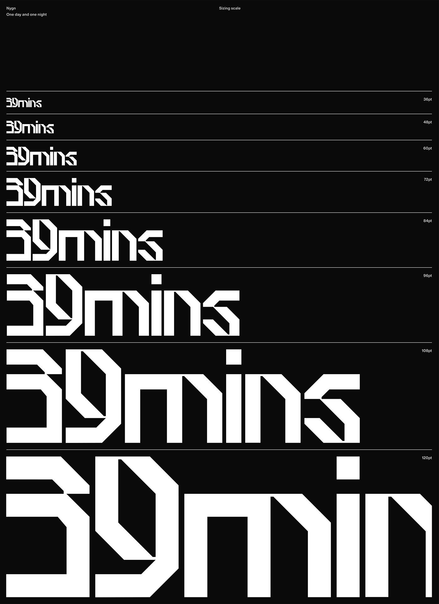 3D blackandwhite typography