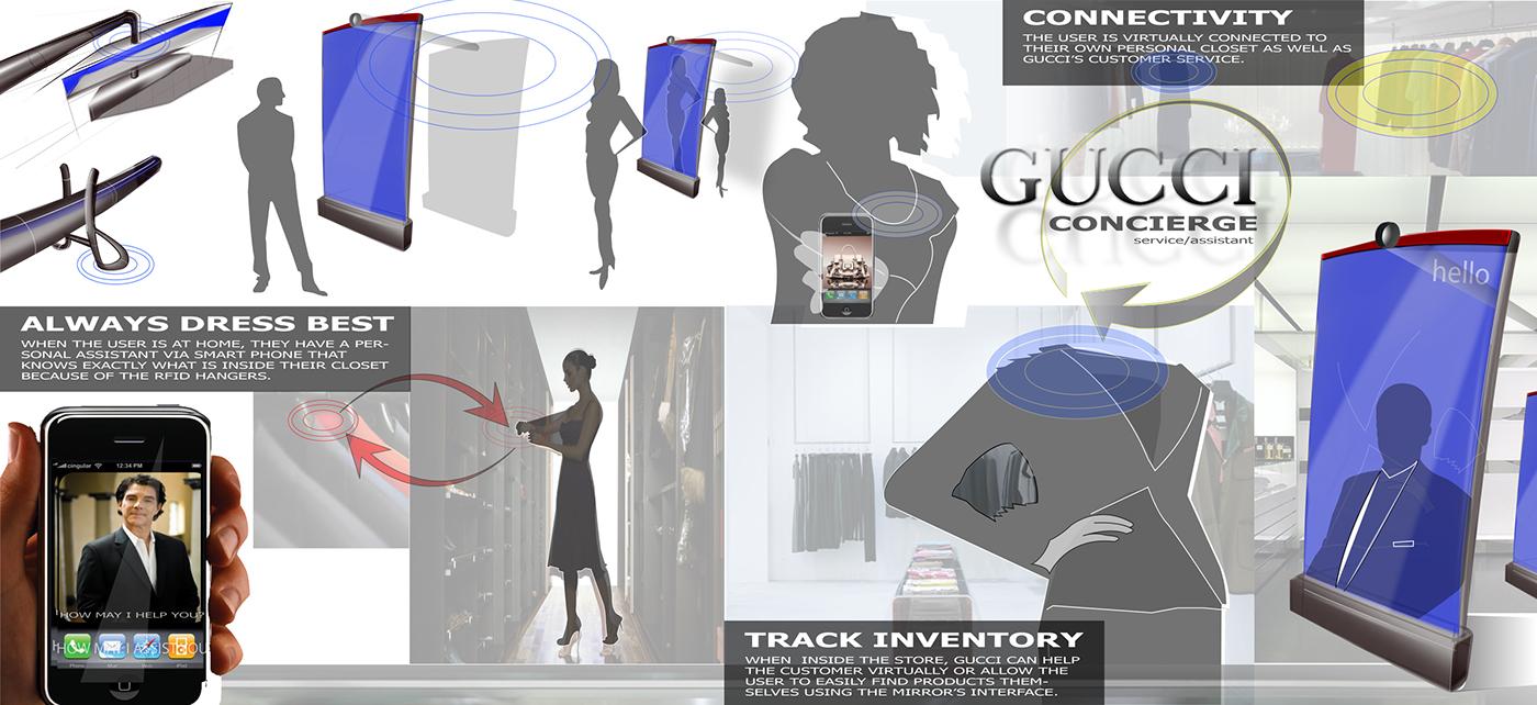 gucci design brand coat hanger hanger concierge virtual mirror luxury