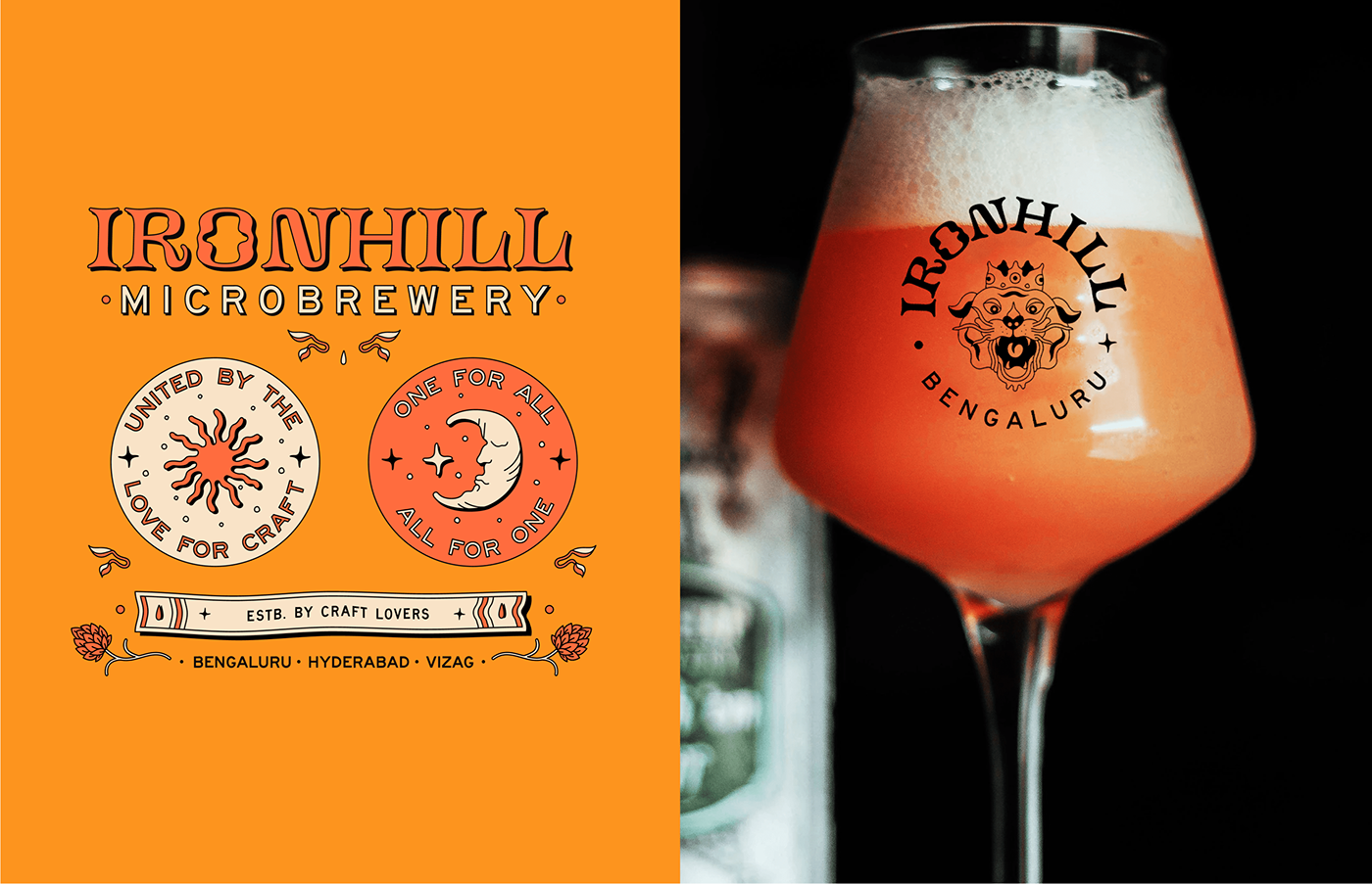 beer branding  brewery fantasy Identity Design ILLUSTRATION  logo Logo Design Microbrewery visual identity