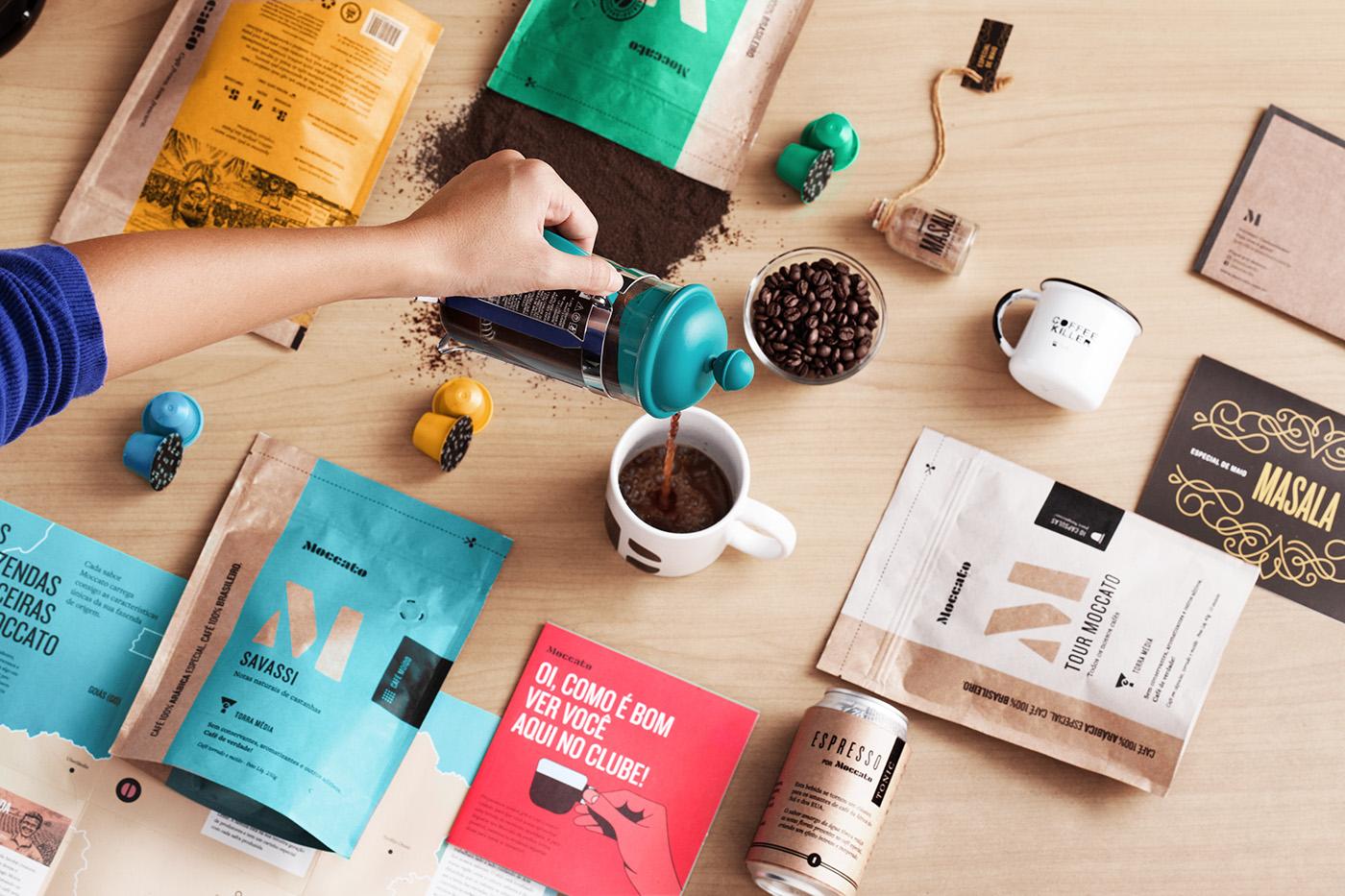 Coffee specialty coffee Color Block scratchboard minimalist Kraft letters alphabet type based