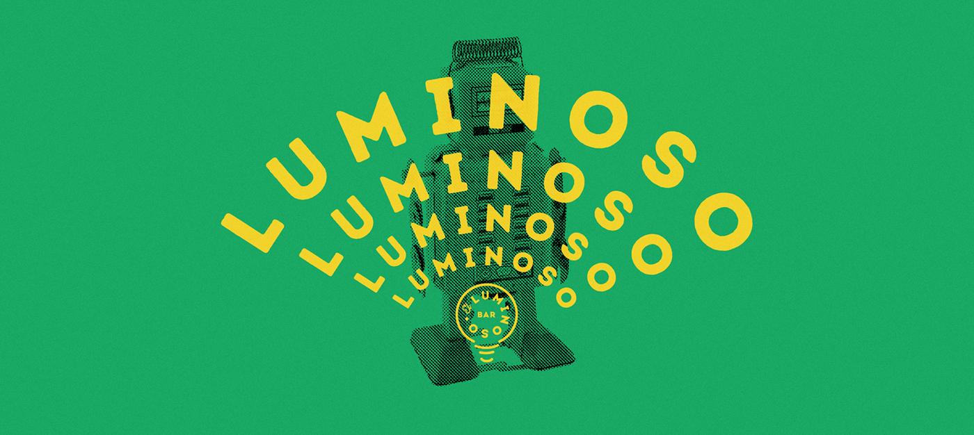 branding  identity graphic design  pub light luminoso freak kitsch cool drinks