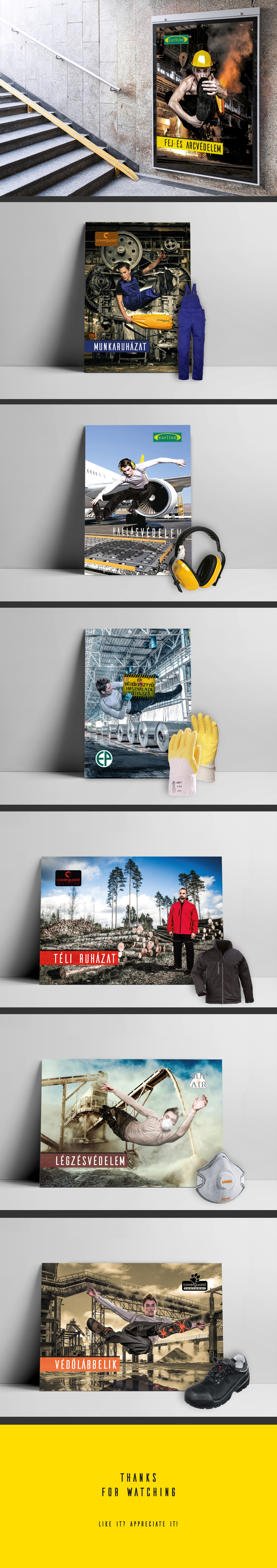 poster Collection creative safety products equipments portrait Landscape