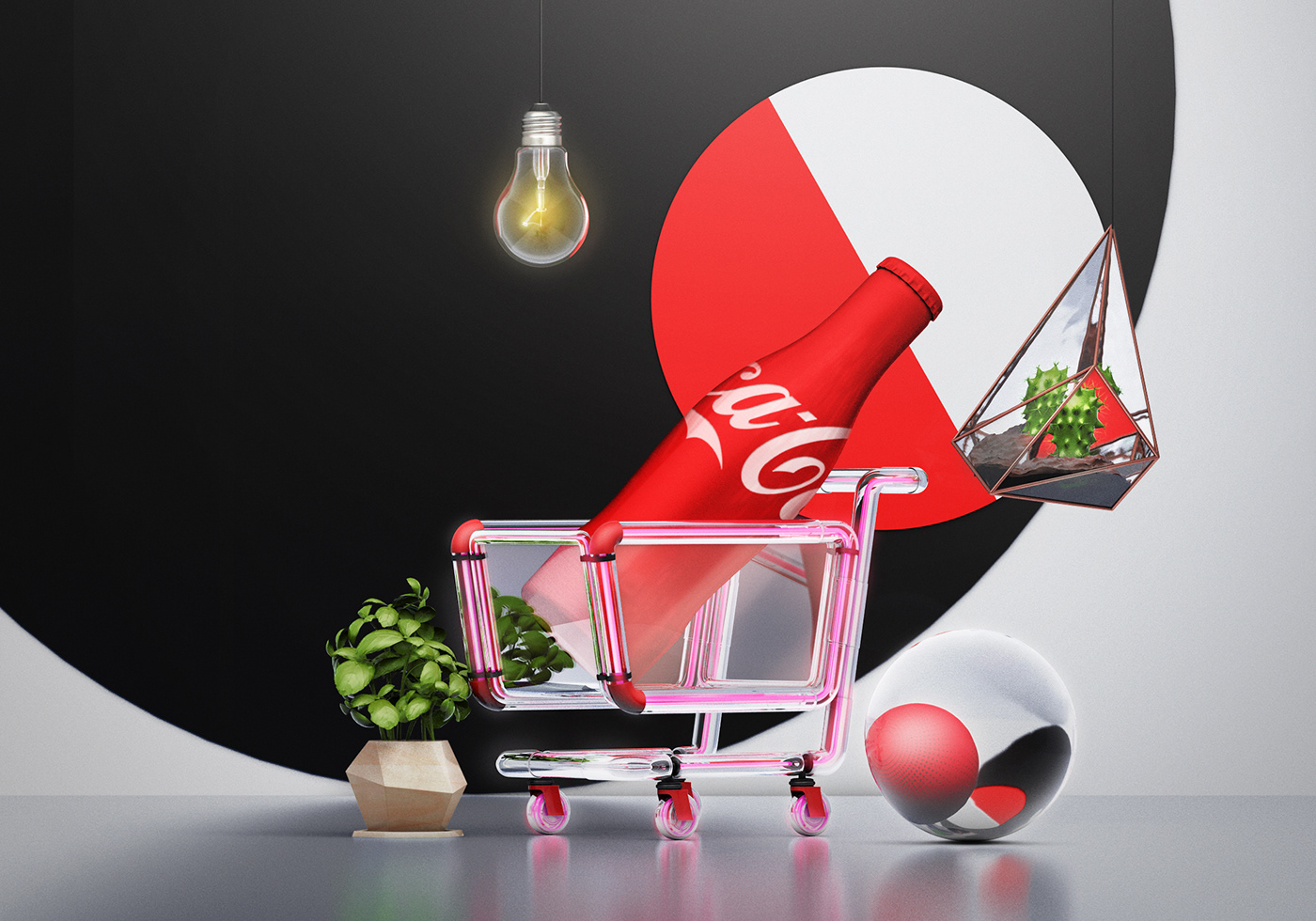 cocacola coke keyvisuals cap bottle backgrounds surreal abstract mood beverage