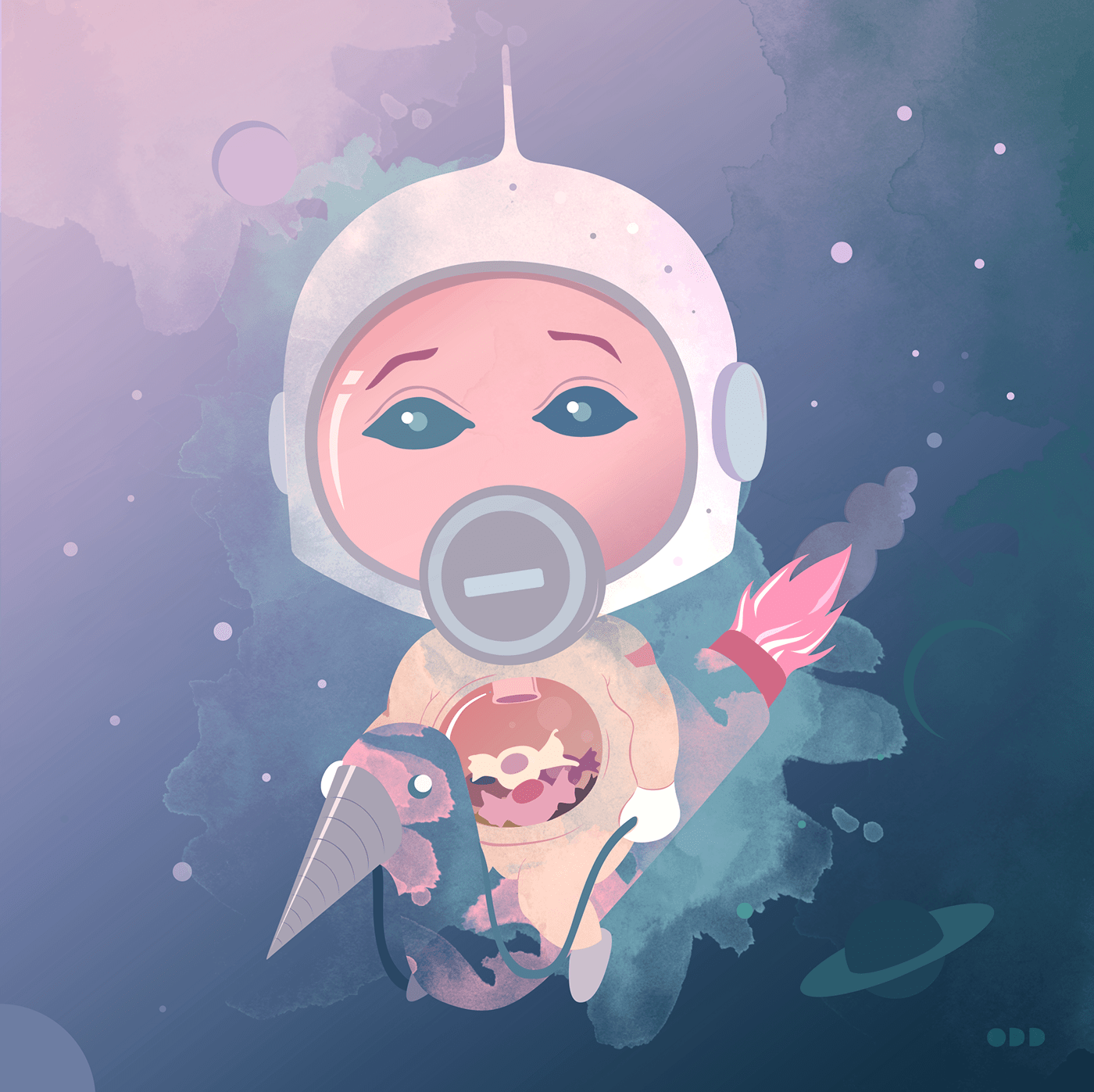 astronaut Candy illustrations toy