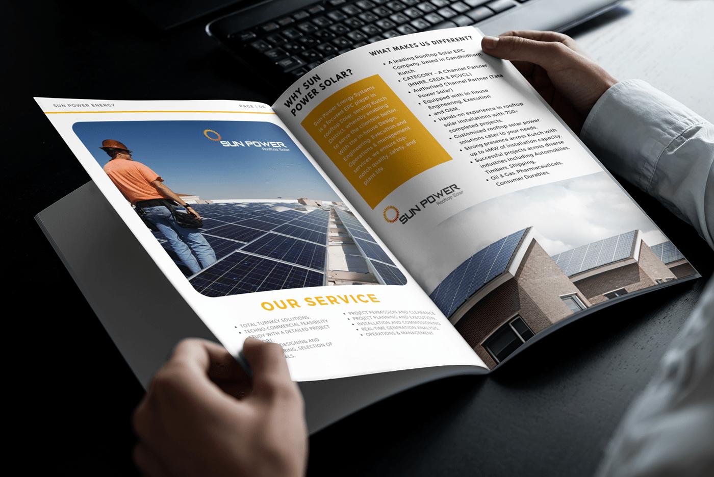 brochure brochure design company profile magazine Magazine design minimal brochure solar solar design