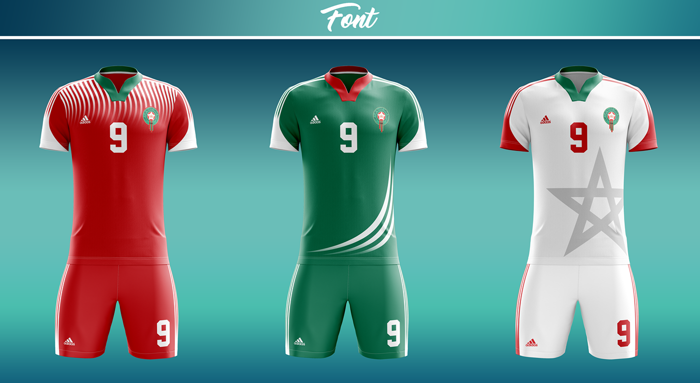 timeless design f5d75 11a9c Morocco soccer kit - World cup Russia 2018 | Adidas on Behance