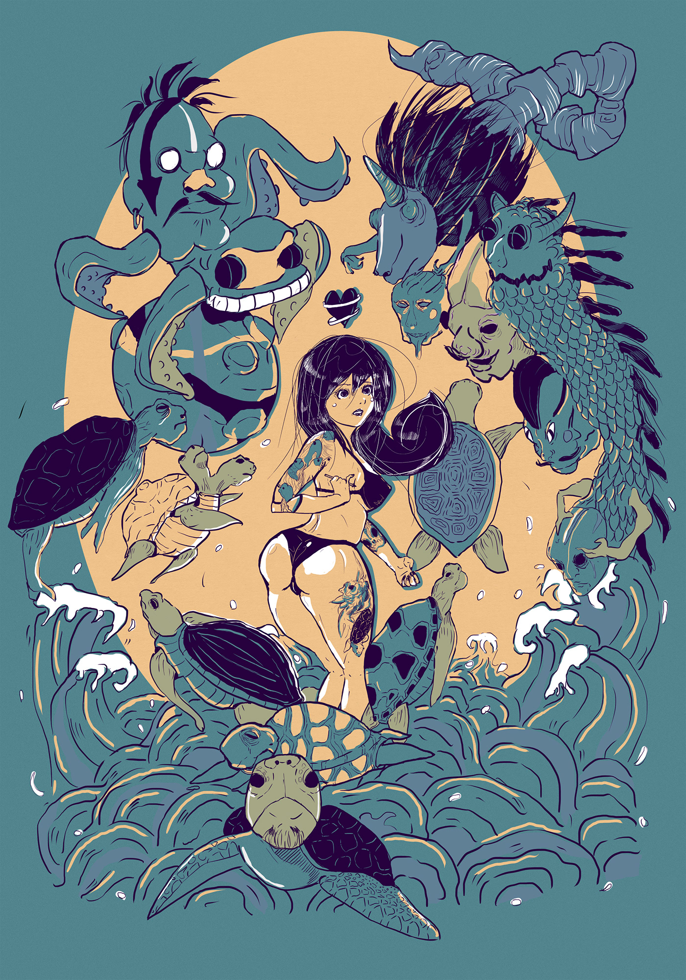 artist artwork cover digitalart DigitalIllustration magazine print Procreate