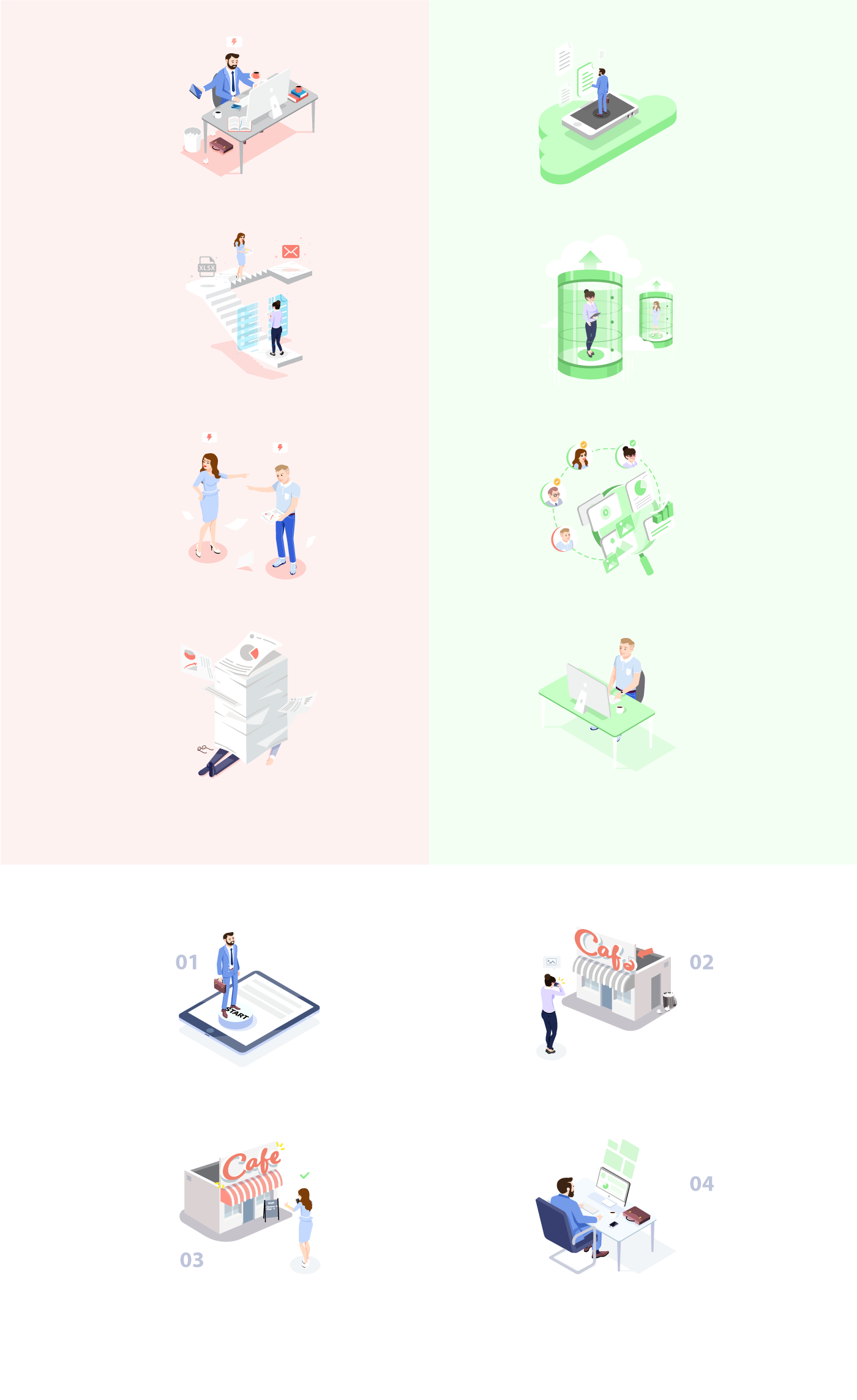 Illsutrations Branded Characters Webdesign app Characters Design characters illustration