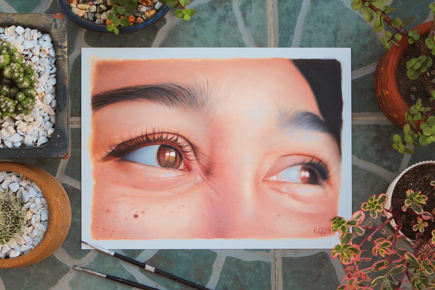 Image may contain: eyes, face and human face