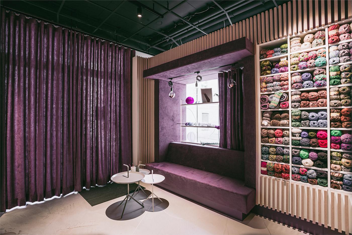 architecture branding  brandspace design handwerk Interior interiordesign manufacture shop wool