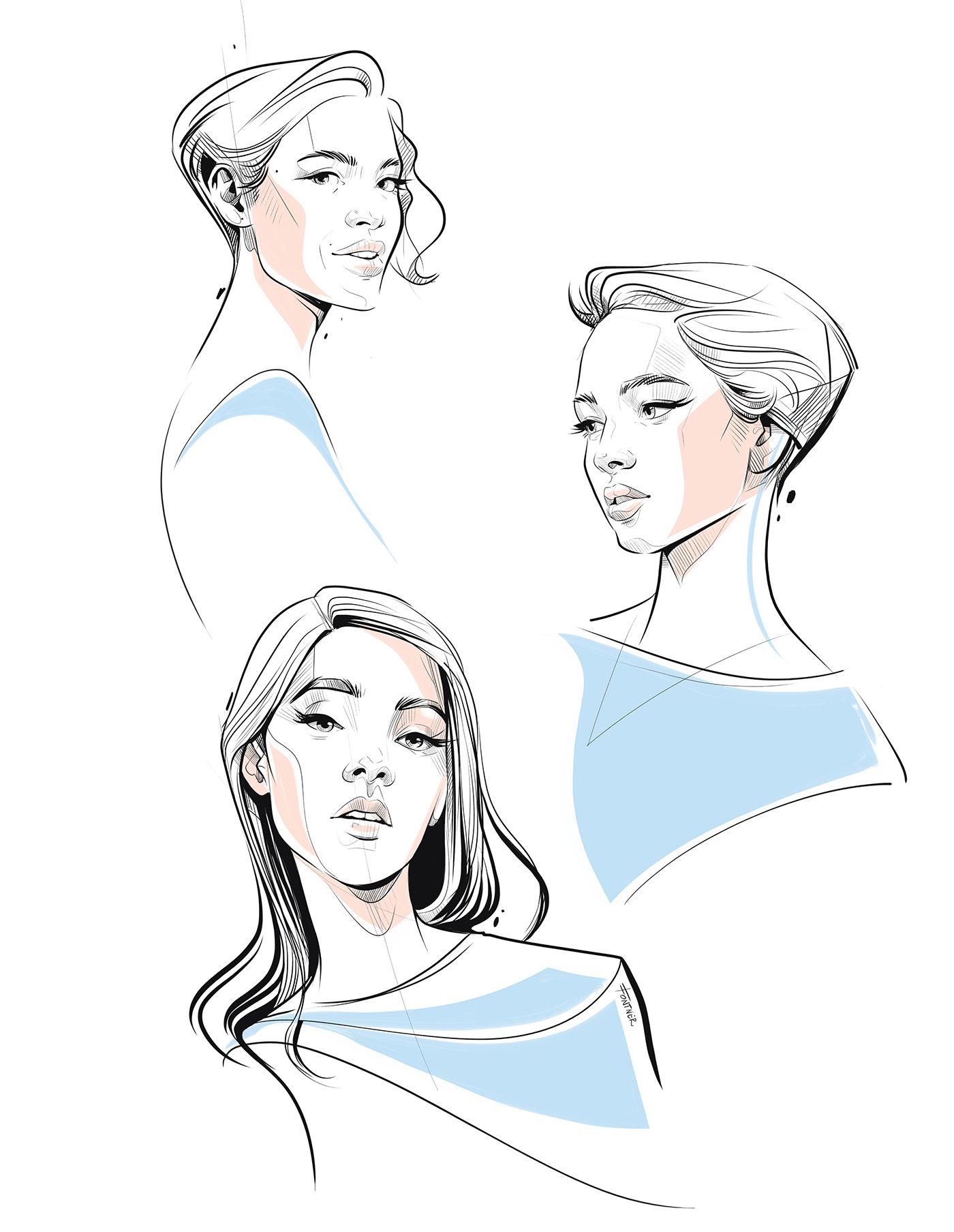 Fashion  fashion illustration portrait