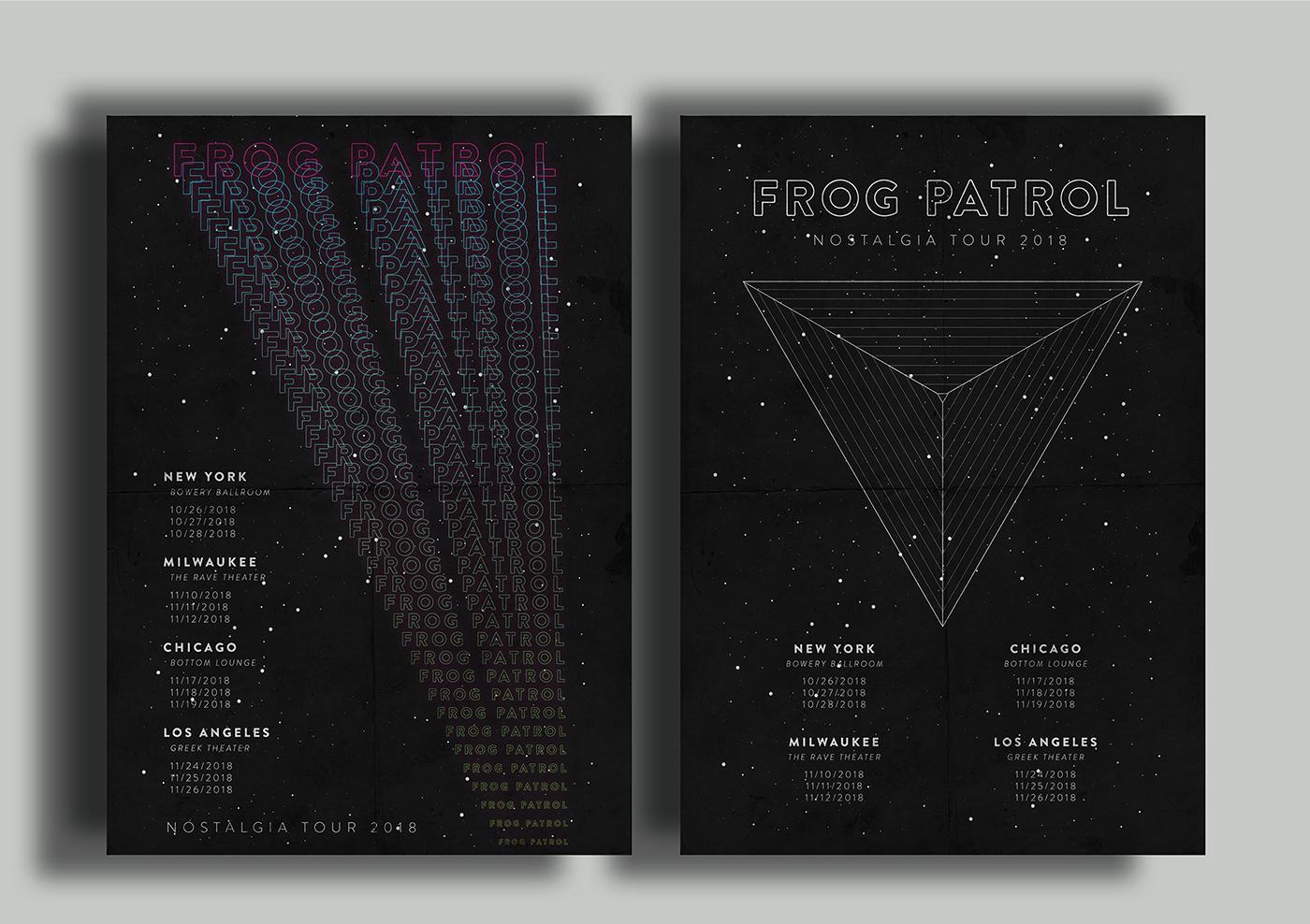 music frog patrol merchandise Album record band vector Space  random records concert