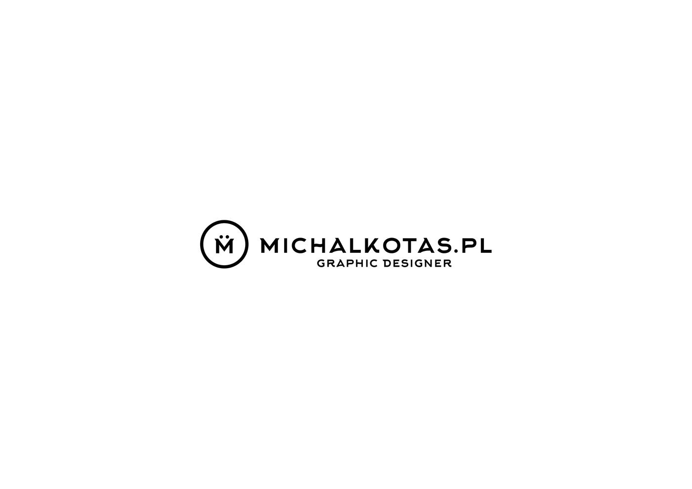 logo Website portfolio Layout branding  michalkotas.pl freelancer concept