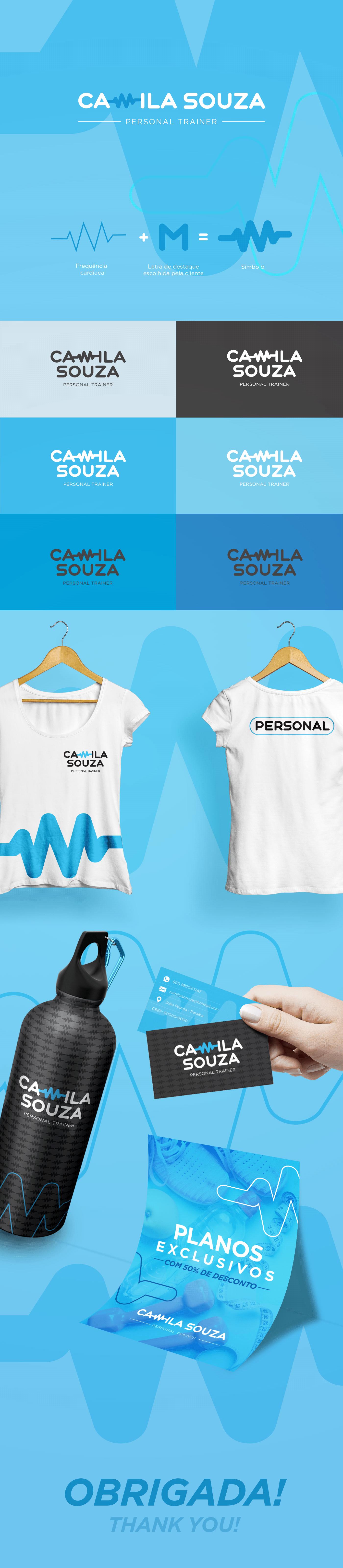 saúde woman logo Logomarca design educação física IFPB cabedelo personal trainer