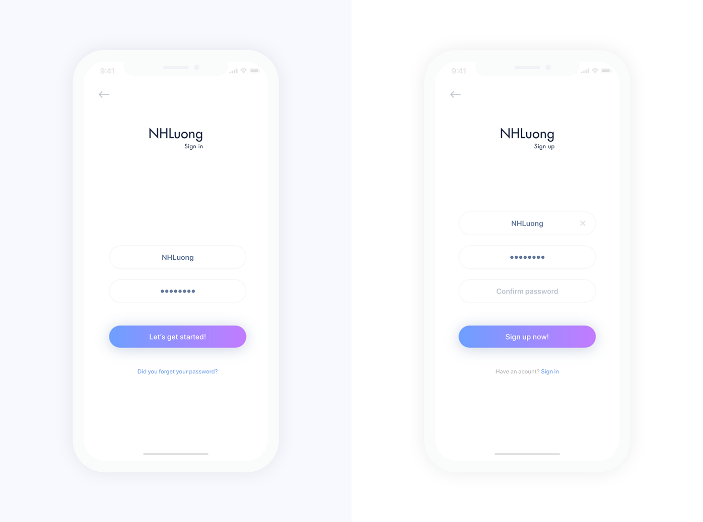 Mobile Apps iPhone X UI Kit XD · Pinspiry