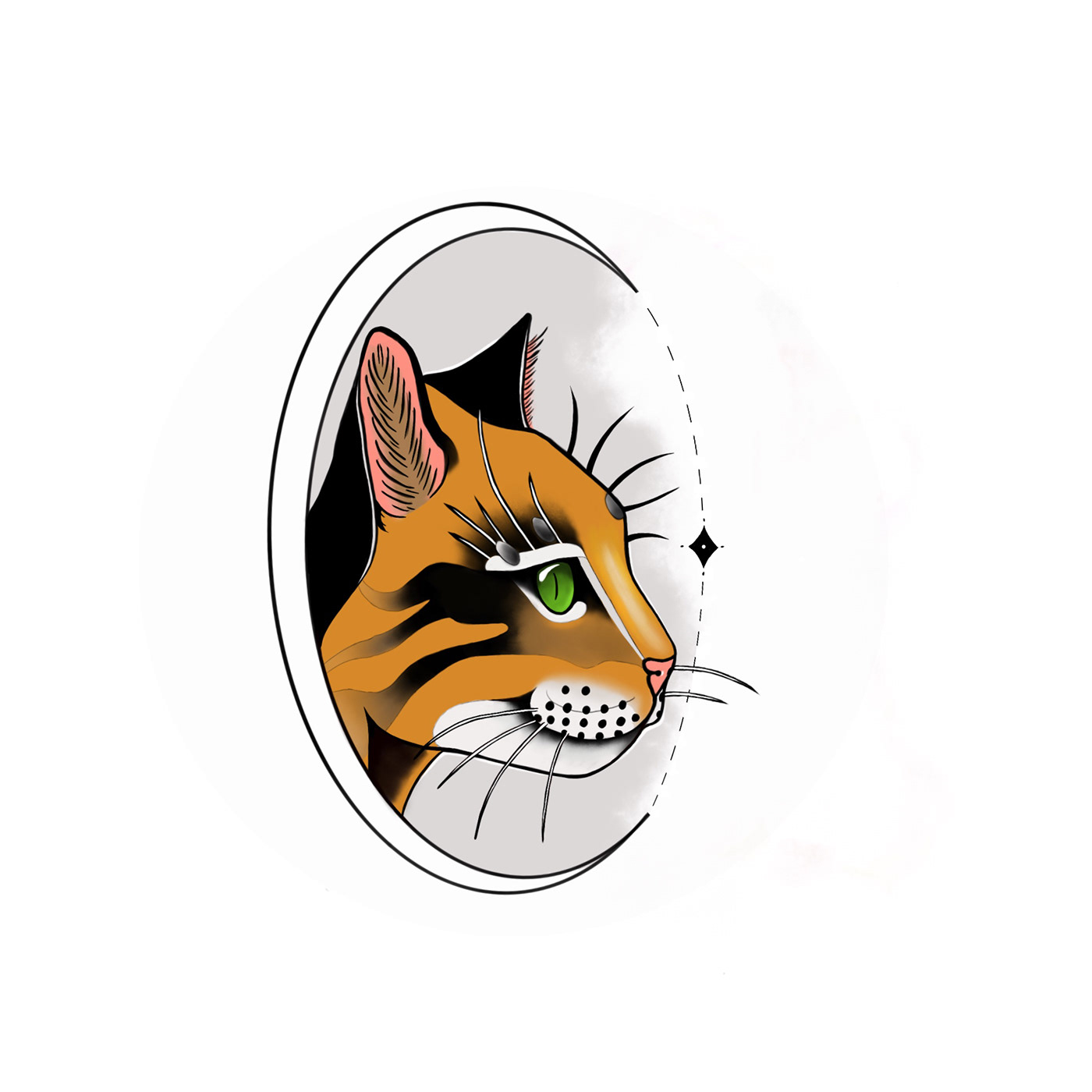 Cat chat neotrad dessin